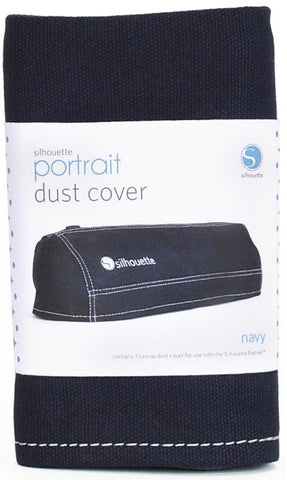 Silhouette Portrait Canvas Dust Cover Navy PORCOVER NAV | Maple Treehouse