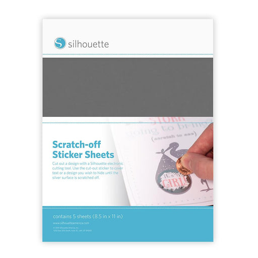 "Silhouette Scratch-Off Sticker Sheets 8.5"" x 11"" 8/Pkg MEDIASCR 