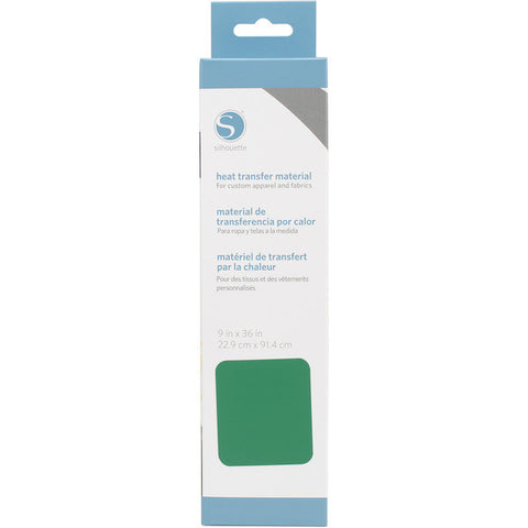 "Silhouette Smooth Heat Transfer Material 9"" X 36"" Green HEAT9SM GRN 