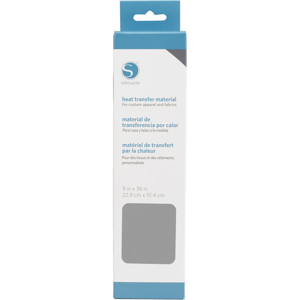 "Silhouette Smooth Heat Transfer Material 9"" X 36"" Grey HEAT9SM GRY 