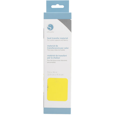 "Silhouette Smooth Heat Transfer Material 9"" X 36"" Lemon Yellow HEAT9SM LEM 