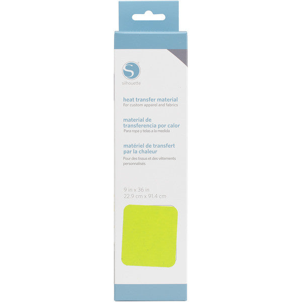 "Silhouette Smooth Heat Transfer Material 9"" X 36"" Lime Green HEAT9SM LIME 