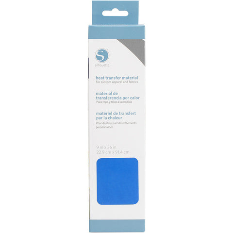 "Silhouette Smooth Heat Transfer Material 9"" X 36"" Neon Blue HEAT9SM NBLU 