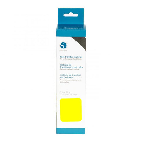 "Silhouette Smooth Heat Transfer Material 9"" X 36"" Neon Yellow HEAT9SM NYEL 