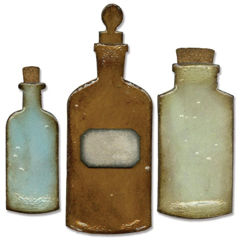 "Sizzix Bigz Die By Tim Holtz 5.5"" X 6"" Apothecary Bottles 658715 