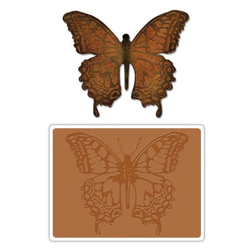 Sizzix Bigz Die With A2 Texture Fades Folder By Tim Holtz Layered Butterfly 659578 | Maple Treehouse