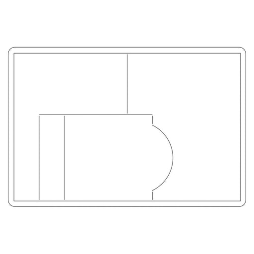 "Sizzix Bigz Large Die 6"" X 8.75"" Side Step Card 659898 