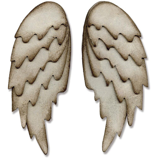 "Sizzix Bigz Large Die By Tim Holtz 6"" X 8.75"" Feathered Wings 660990 