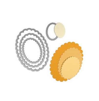 Sizzix Framelits Dies 4-Pkg Scallop Ovals 657564 | Maple Treehouse