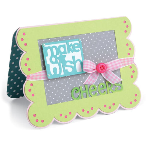 Sizzix Framelits Dies By Stephanie Barnard 15-Pkg Scallop Banners-Greetings Drop-Ins Card 660147 | Maple Treehouse