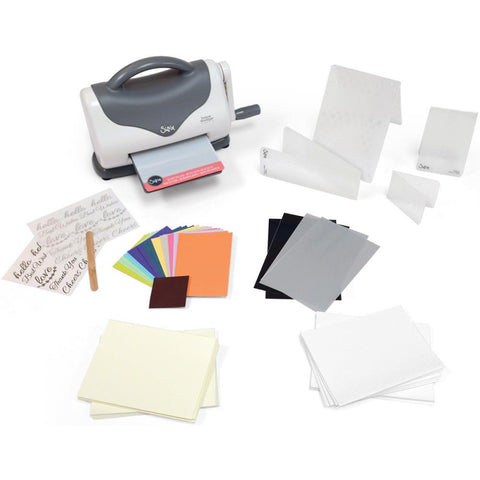 Sizzix Texture Boutique Embossing Starter Kit Gray & White 660951 | Maple Treehouse