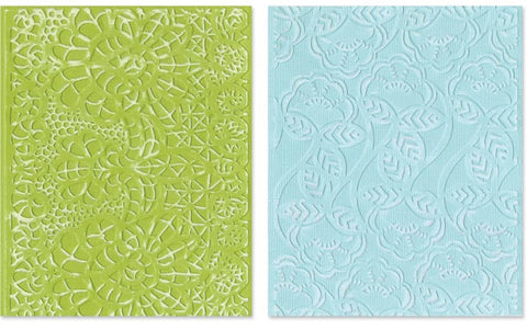 Sizzix Textured Impressions A2 Embossing Folders 2-Pkg Bohemian Lace 657811 | Maple Treehouse