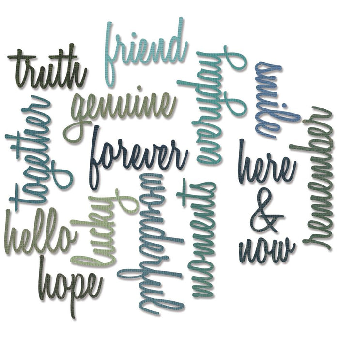 Sizzix Thinlits Dies 16-Pkg By Tim Holtz Friendship Script Words 660225 | Maple Treehouse
