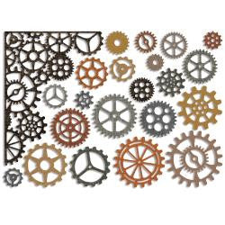 Sizzix Thinlits Dies 22/Pkg By Tim Holtz Gearhead 661184 | Maple Treehouse