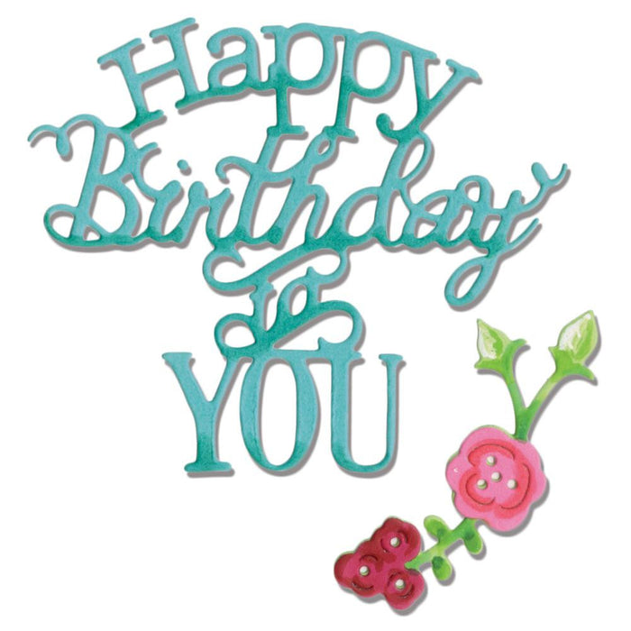 Sizzix Thinlits Dies 3-Pkg Happy Birthday To You 660368 | Maple Treehouse