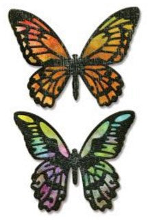 Sizzix Thinlits Dies 4-Pkg By Tim Holtz Detailed Butterflies 661182 | Maple Treehouse