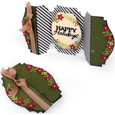 Sizzix Thinlits Dies 6-Pkg Fold-A-Long Happy Holidays Card 660666 | Maple Treehouse