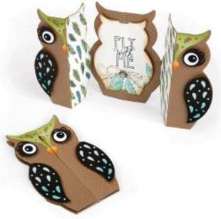 Sizzix Thinlits Dies 6-Pkg Owl Fold-A-Long Card 661138 | Maple Treehouse