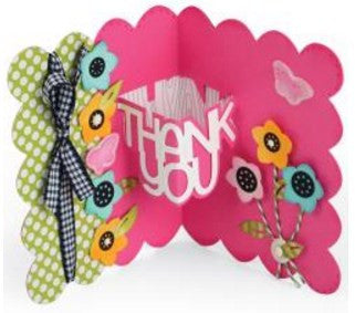 Sizzix Thinlits Dies 9-Pkg By Stephanie Barnard Thank You Sentiments Drop-Ins Card 661128 | Maple Treehouse