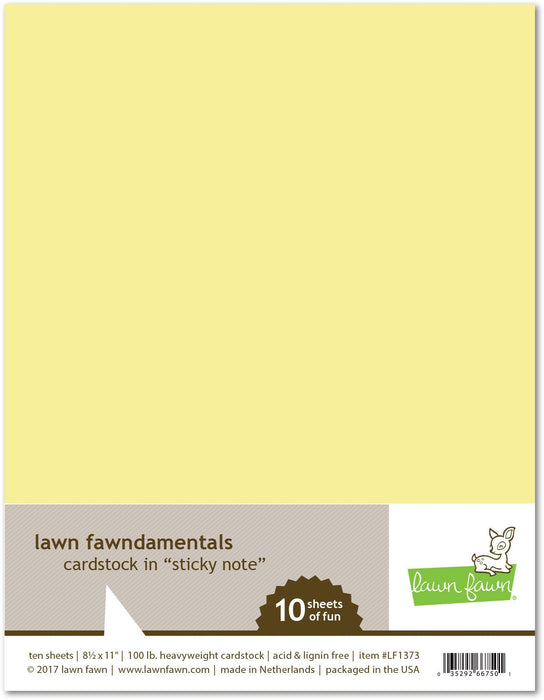 "Lawn Fawn Sticky Note Cardstock 8.5"" x 11"" LF1373"