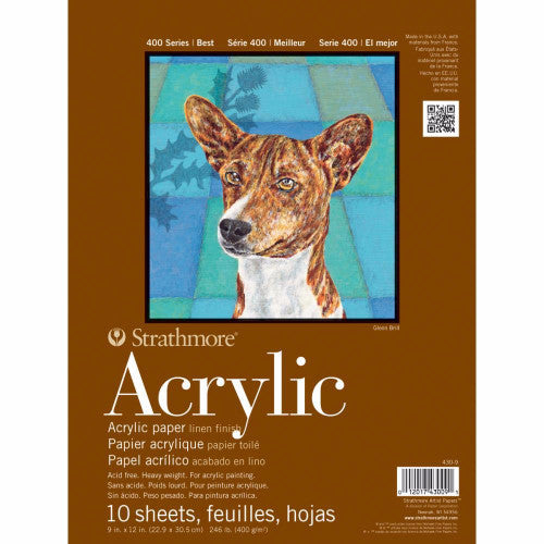 "Strathmore Acrylic Paper Pad 9"" x 12"" 10 Sheets 430900 