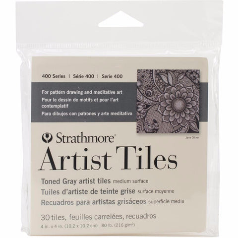 "Strathmore Artist Tiles 4"" x 4"" 30/Pkg Toned Gray 62105978 