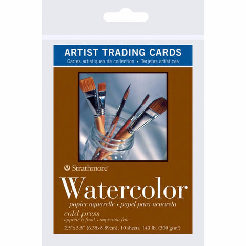 "Strathmore Artist Trading Cards 2.5"" x 3.5"" 10/Pkg Watercolor 62105904 