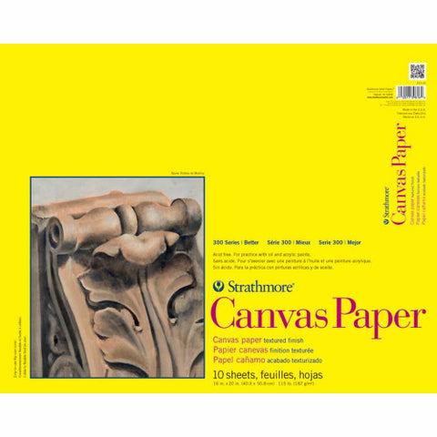 "Strathmore Canvas Paper Pad 16"" x 20"" 10 Sheets 310160 
