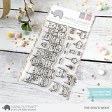 "Mama Elephant 4"" x 6"" Photopolymer Clear Stamps The Dog's Woof"