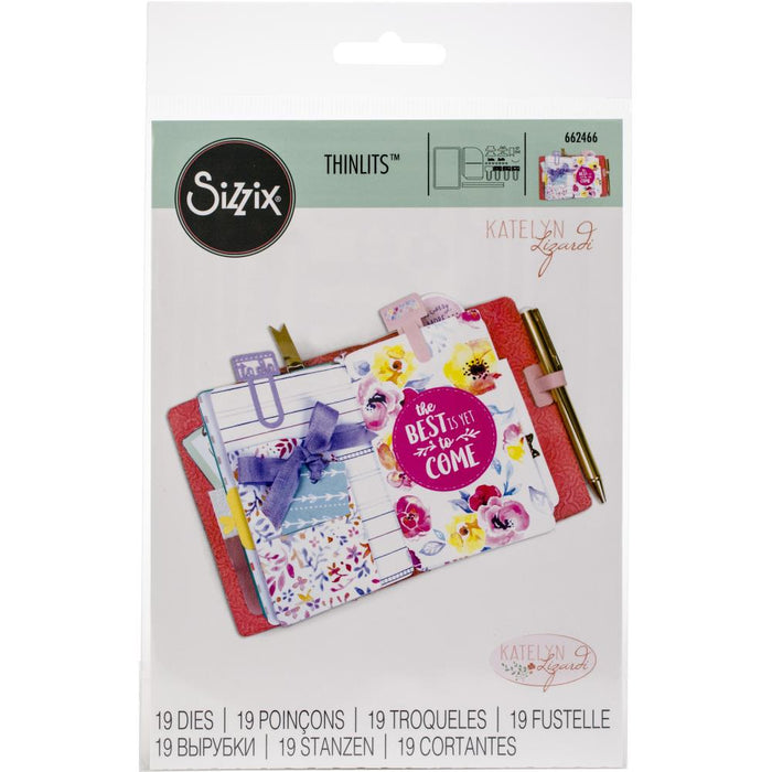 Sizzix Thinlits Dies By Katelyn Lizardi 19/Pkg Traveler's Notebook Inserts 662466