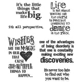 "Tim Holtz Cling Rubber Stamp Set 7"" X 8.5"" Good Thoughts CMS-085 