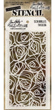 "Tim Holtz Layered Stencil 4.125"" X 8.5"" Scribbles THS 036 