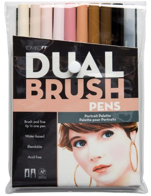 Tombow Dual Brush Markers 10-Pkg Portrait DBP10 56170 | Maple Treehouse