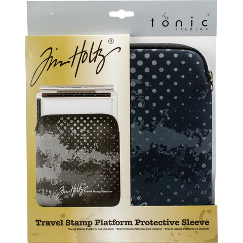 Tim Holtz Travel Stamp Platform Zipper Sleeve 1712E