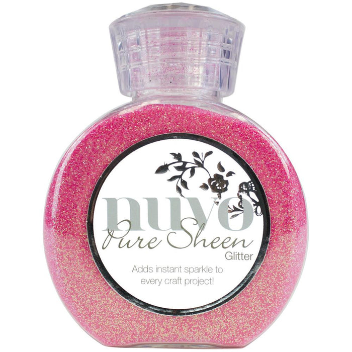 Tonic Studios Nuvo Pure Sheen Glitter 3.38oz Candy Pink NPSG 711 | Maple Treehouse