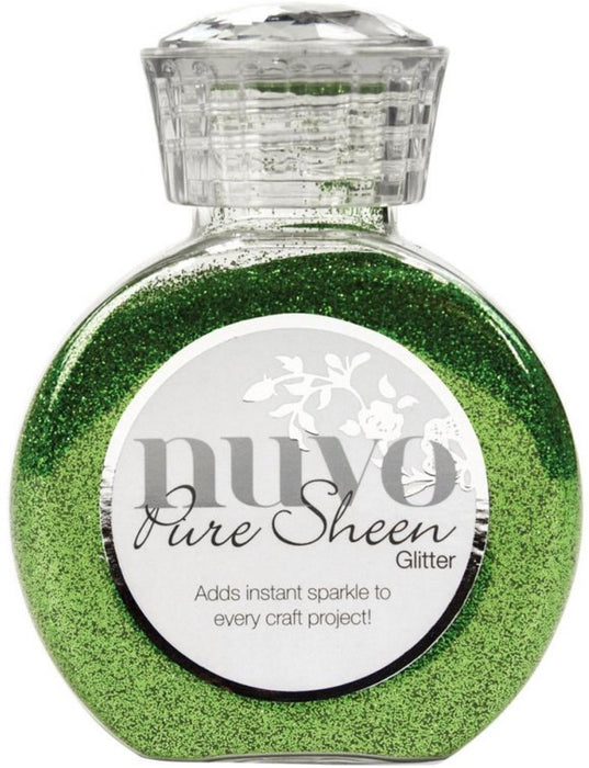 Tonic Studios Nuvo Pure Sheen Glitter 3.38oz Green Meadow NPSG 717 | Maple Treehouse