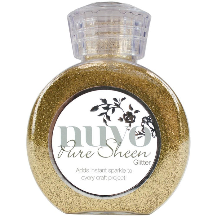 Tonic Studios Nuvo Pure Sheen Glitter 3.38oz Light Gold NPSG 707 | Maple Treehouse