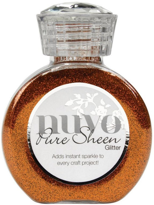 Tonic Studios Nuvo Pure Sheen Glitter 3.38oz Spiced Apricot NPSG 727 | Maple Treehouse