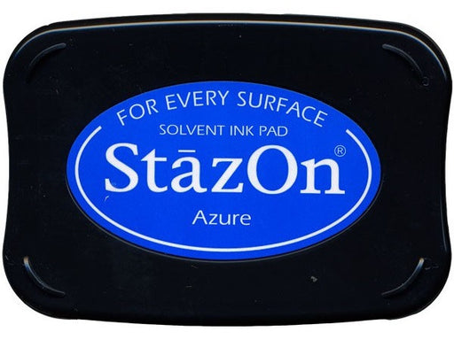 Tsukineko StazOn Solvent Ink Pad Azure SZ 95 | Maple Treehouse