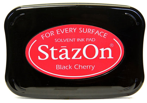 Tsukineko StazOn Solvent Ink Pad Black Cherry SZ 22 | Maple Treehouse