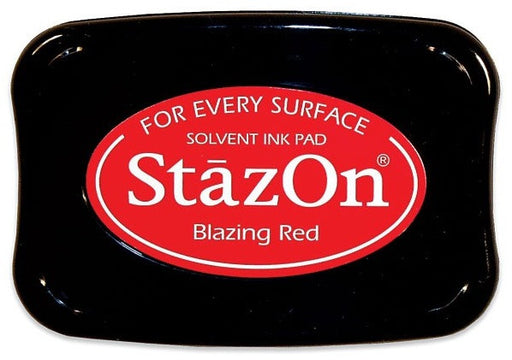 Tsukineko StazOn Solvent Ink Pad Blazing Red SZ 21 | Maple Treehouse