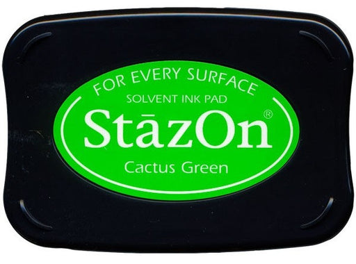 Tsukineko StazOn Solvent Ink Pad Cactus Green SZ 52 | Maple Treehouse