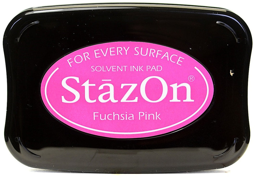 Tsukineko StazOn Solvent Ink Pad Fuchsia Pink SZ 82 | Maple Treehouse