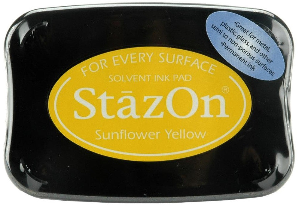 Tsukineko StazOn Solvent Ink Pad Sunflower Yellow SZ 93 | Maple Treehouse