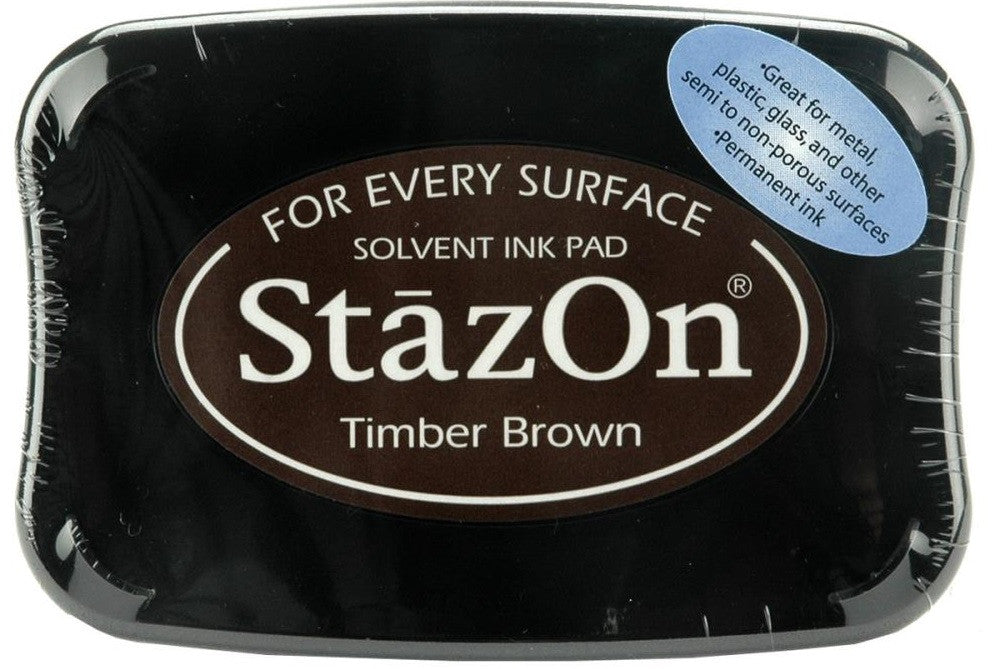 Tsukineko StazOn Solvent Ink Pad Timber Brown SZ 41 | Maple Treehouse