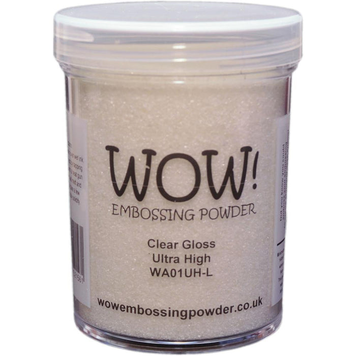 Wow Embossing Powder Large Jar 160ml Clear Gloss Ultra High WOW-LG WA01U