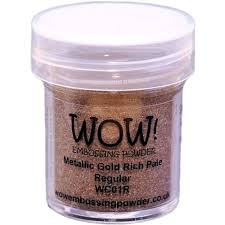 Wow Embossing Powder 15ml Gold Rich Pale WOW WC01R