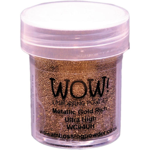 Wow Embossing Powder Ultra High 15ml Metallic Gold Rich WOW-UH WC04