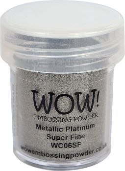 Wow Embossing Powder Super Fine 15ml Platinum WC06SF