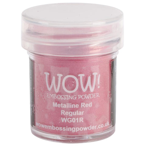 Wow Embossing Powder 15ml Metalline Red WOW WG01R